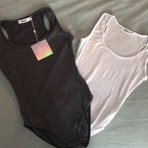 Missguided Tops - NWT Missguided racerback tank body suit 2 pack
